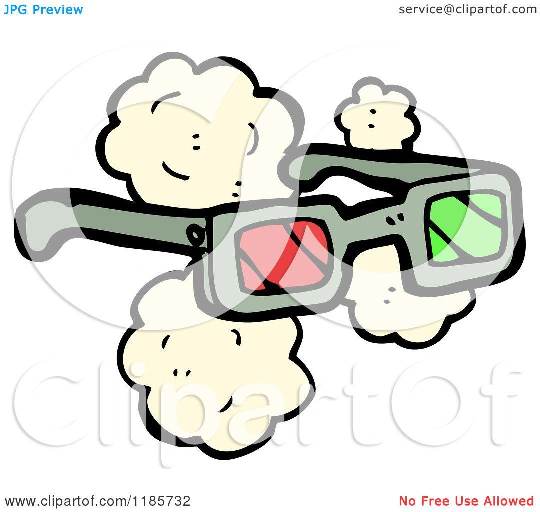 Cartoon of 3D Glasses - Royalty Free Vector Illustration ...