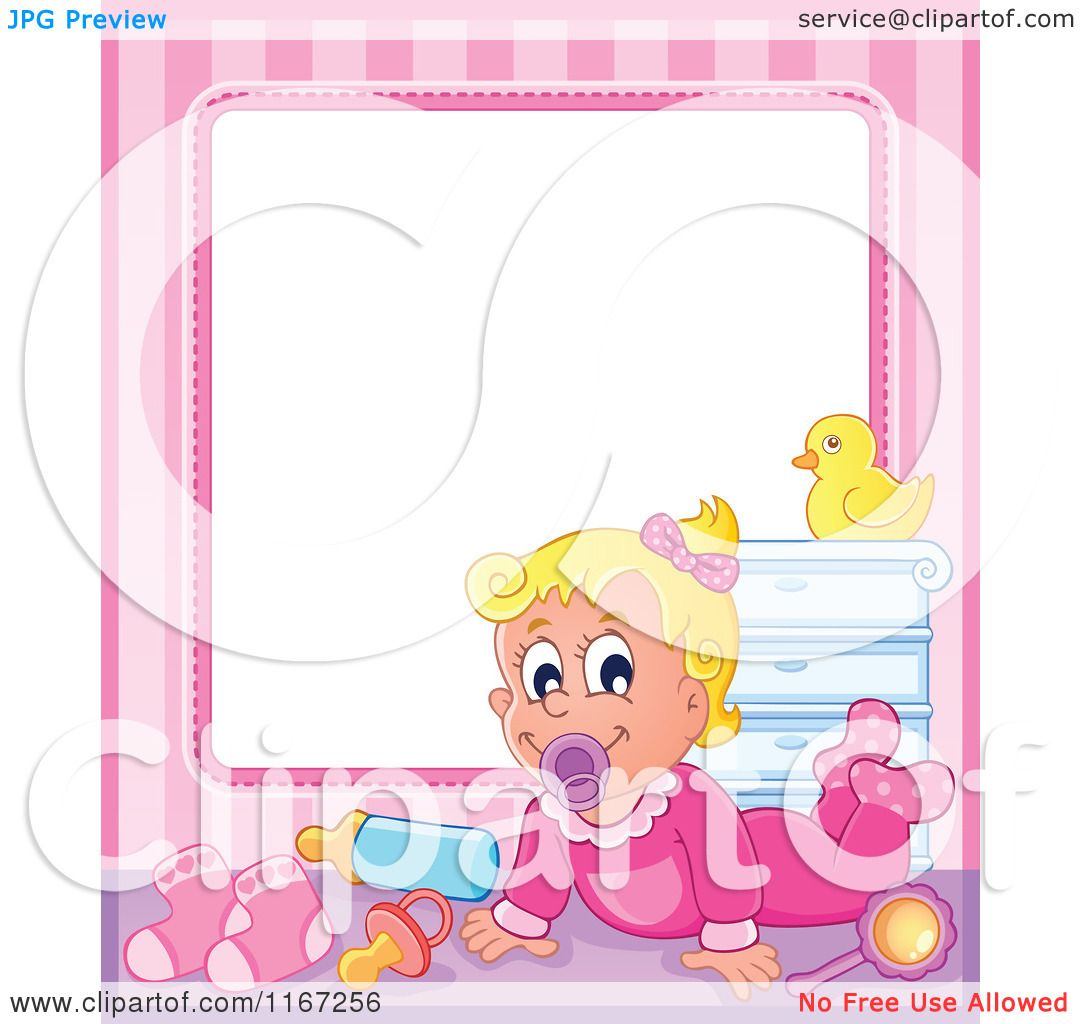 Cartoon of a Baby Girl Frame - Royalty Free Vector Clipart by ...