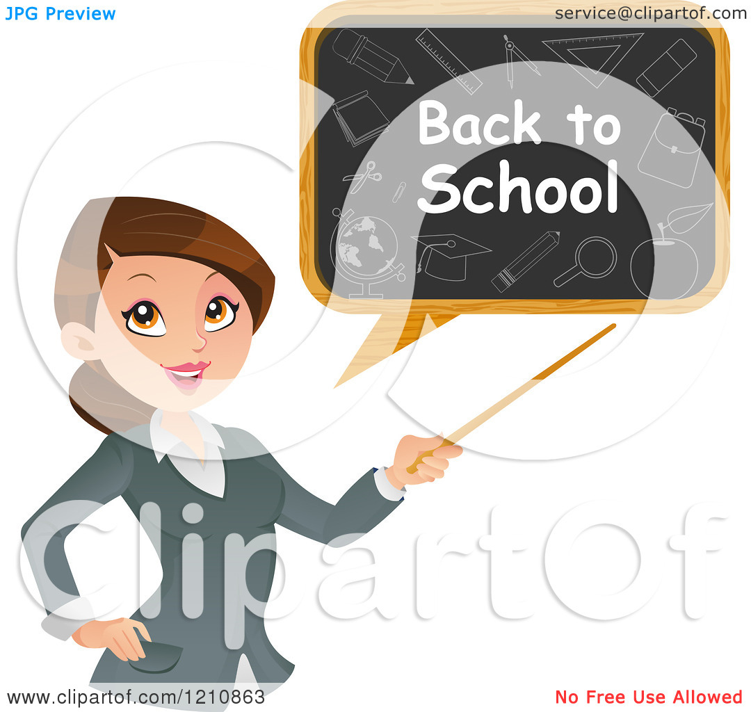 Girl teacher cartoon character