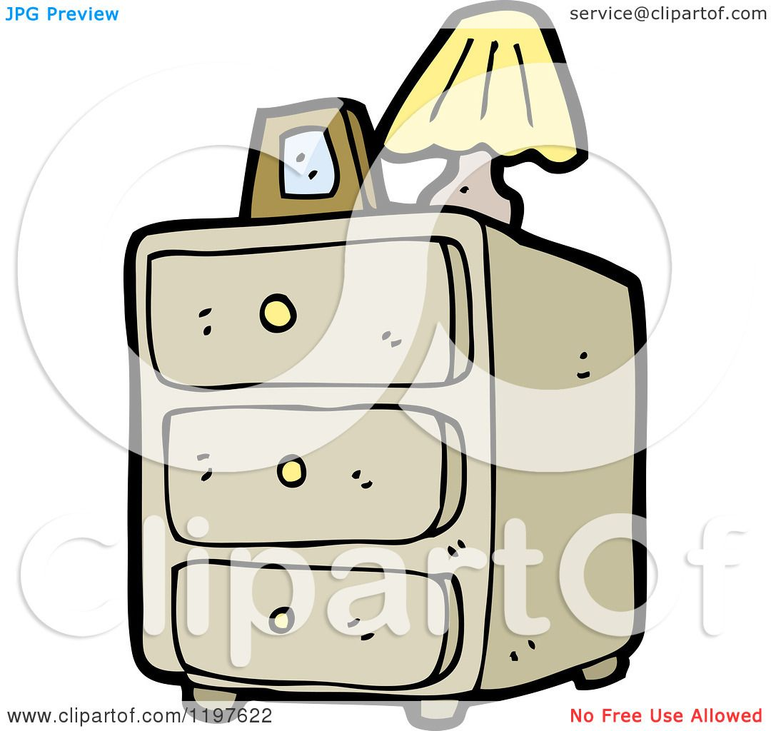 Lamps For Bedroom Dresser Cartoon Of A Bedroom Dresser And Lamp Royalty Free Vector