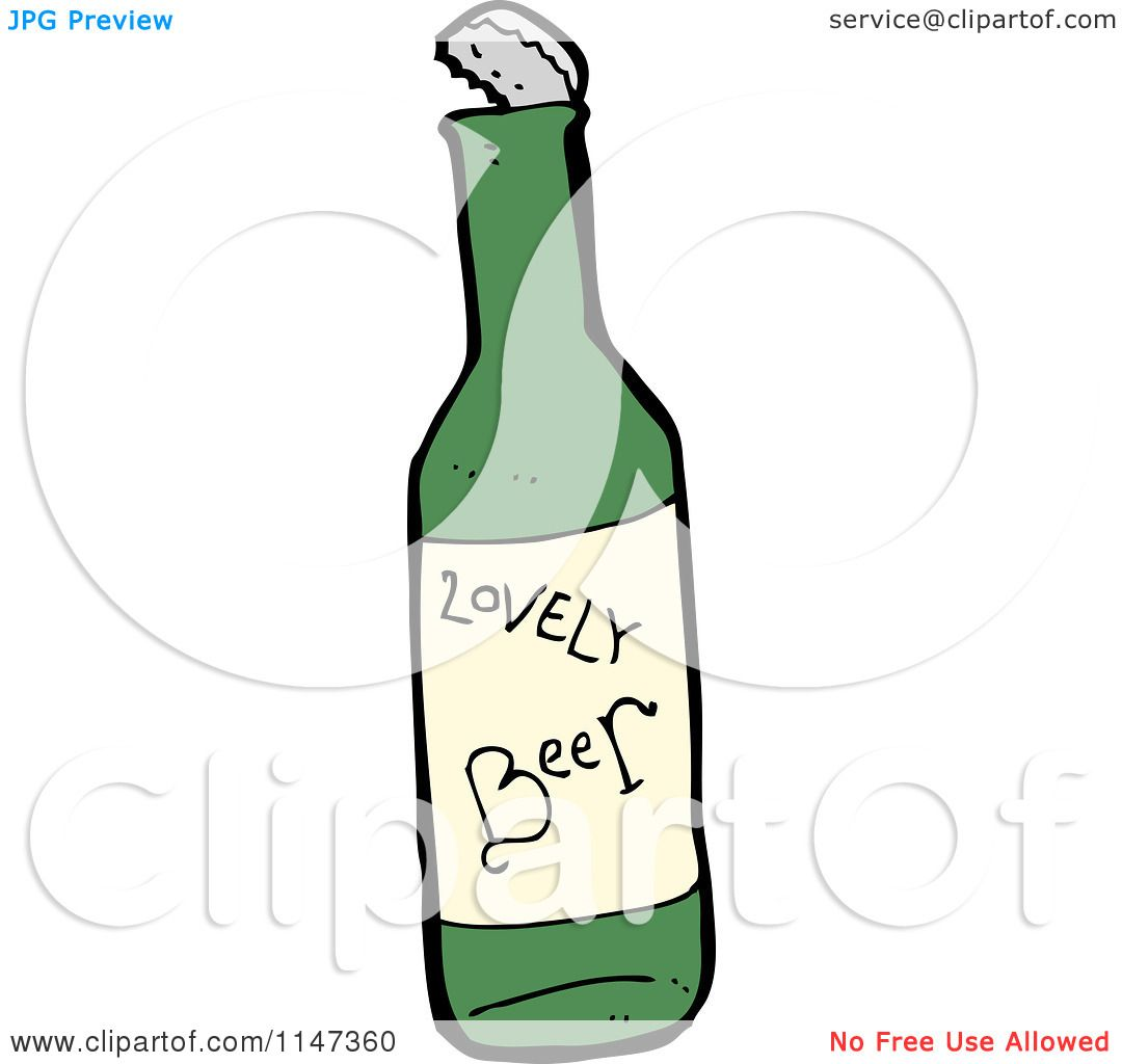 Cartoon Beer Bottle Clipart Cartoon of a Beer Bottle