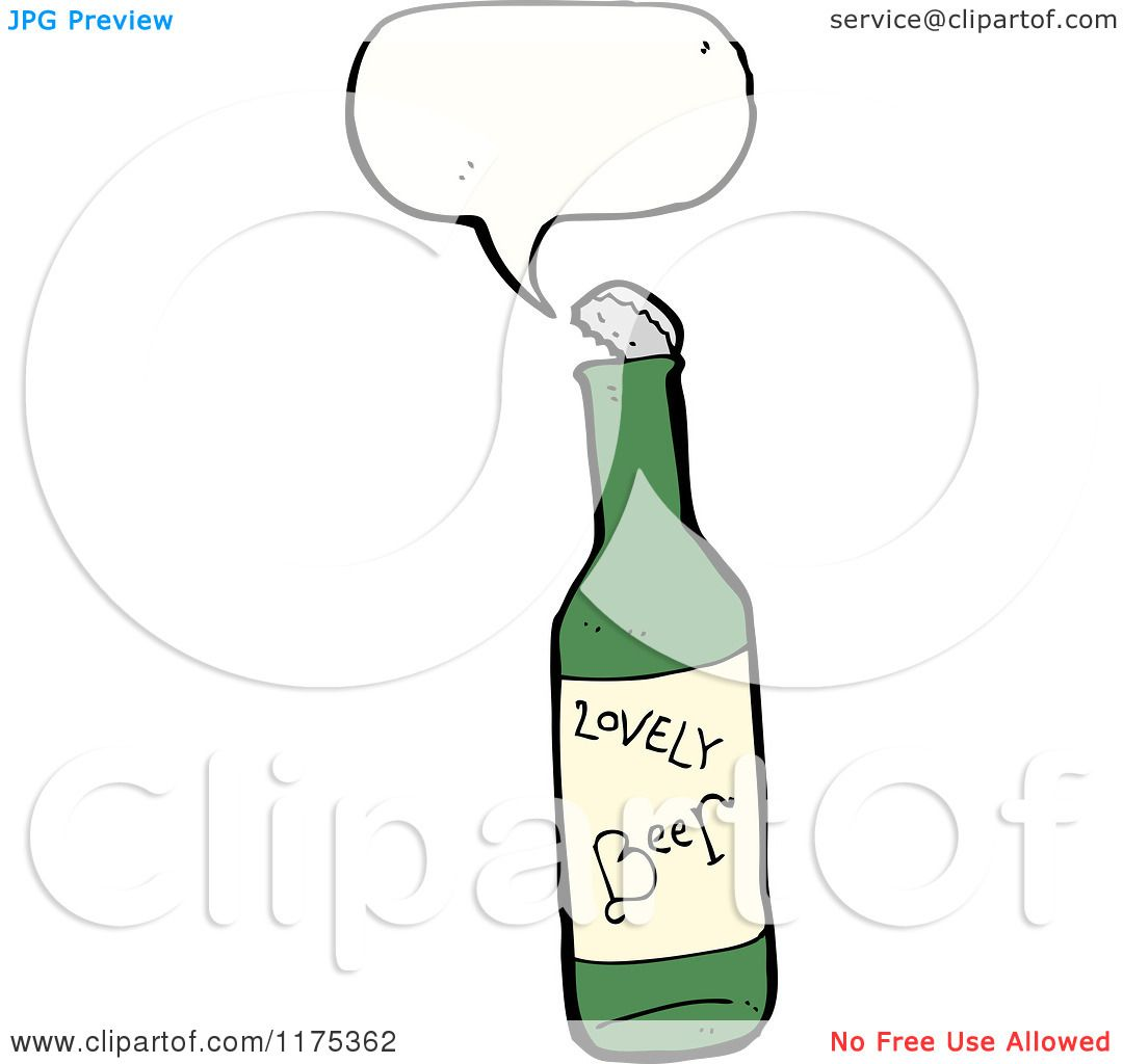 Cartoon Broken Beer Bottle Cartoon of a Beer Bottle With