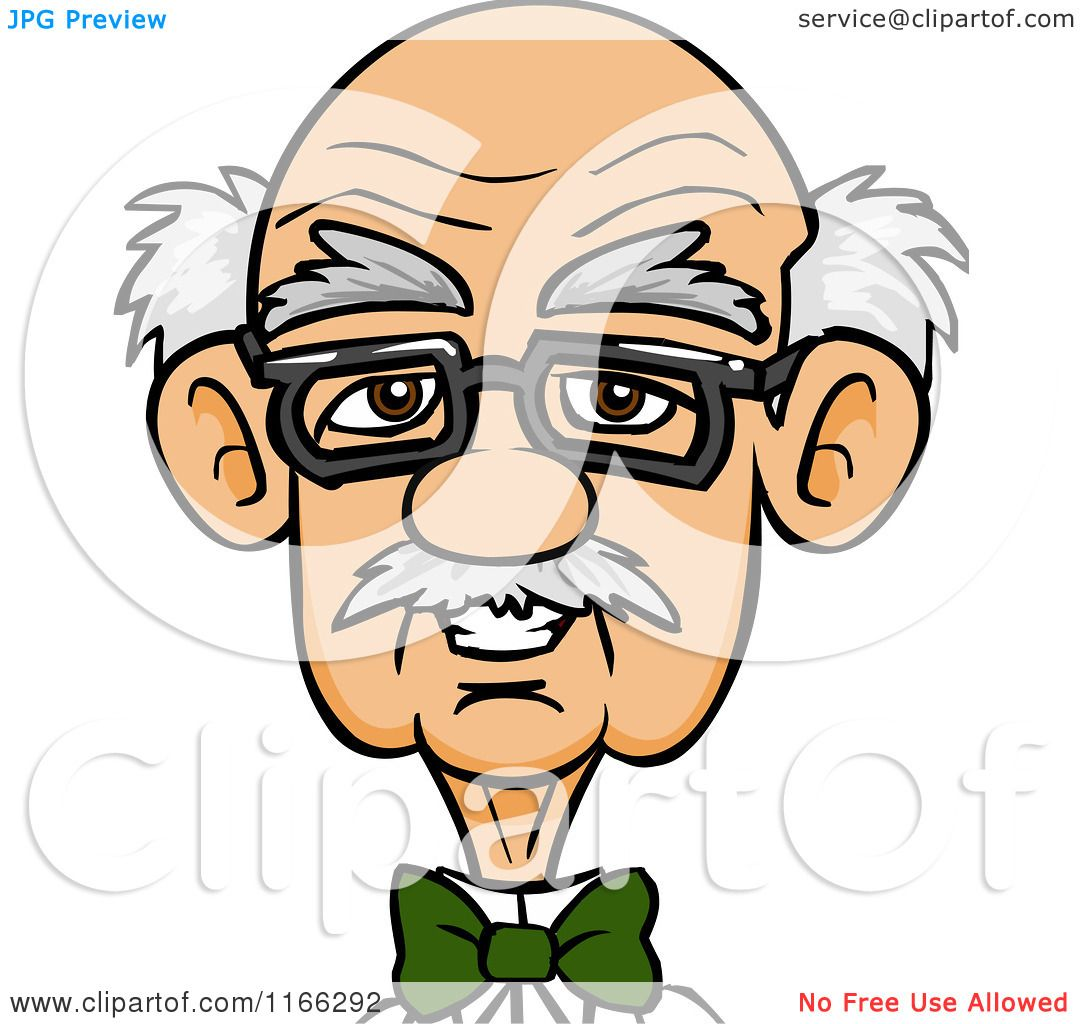 Cartoon of a Bespectacled Old Man Avatar - Royalty Free Vector Clipart    Old Black Man Cartoon Characters