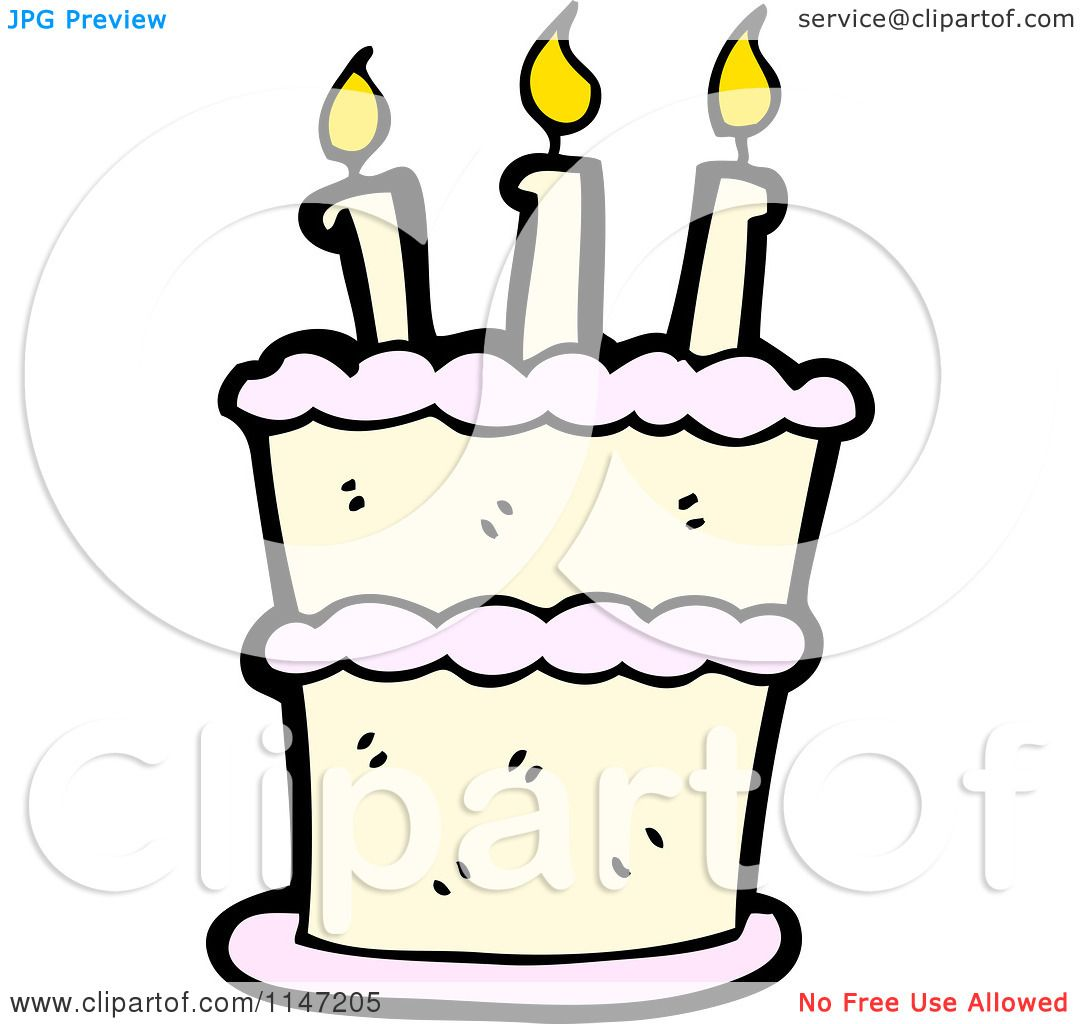 Birthdaycakewith Candles Public Domain Vectors