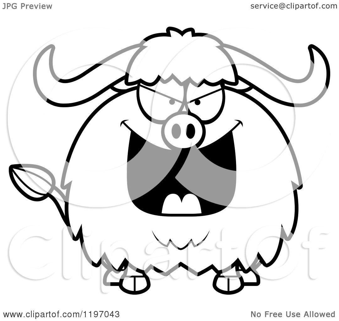 Cartoon of a Black And White Black And White Evil Chubby ...