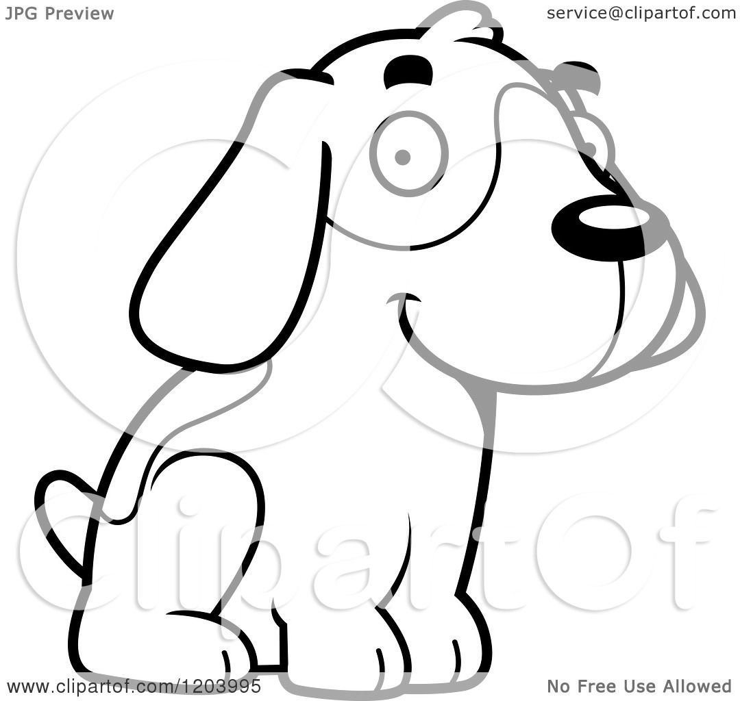 cute beagle dog coloring pages - photo#19