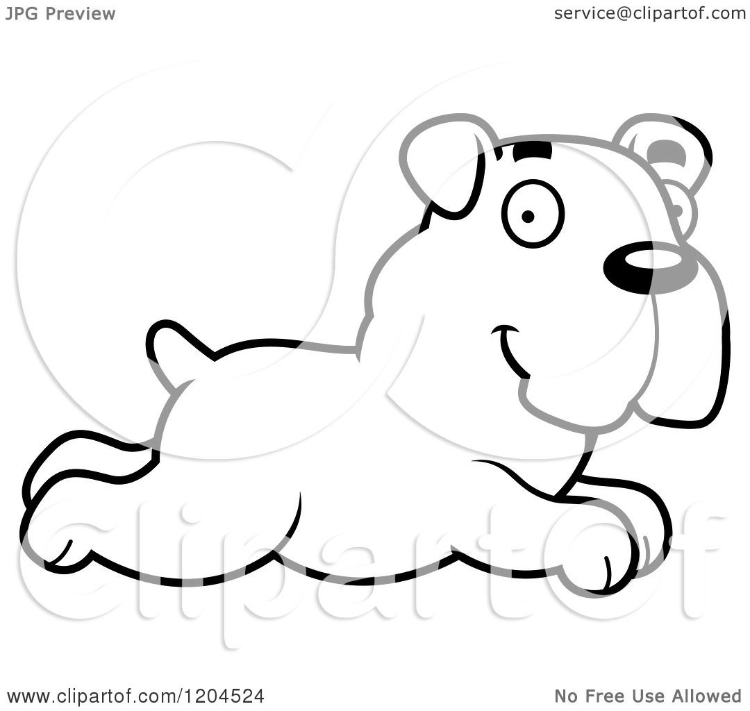 You Draw Horse How Towards Cartoon Of A Black And White Cute Bulldog  Puppy Dog Running Royalty Free Vector Clipart By