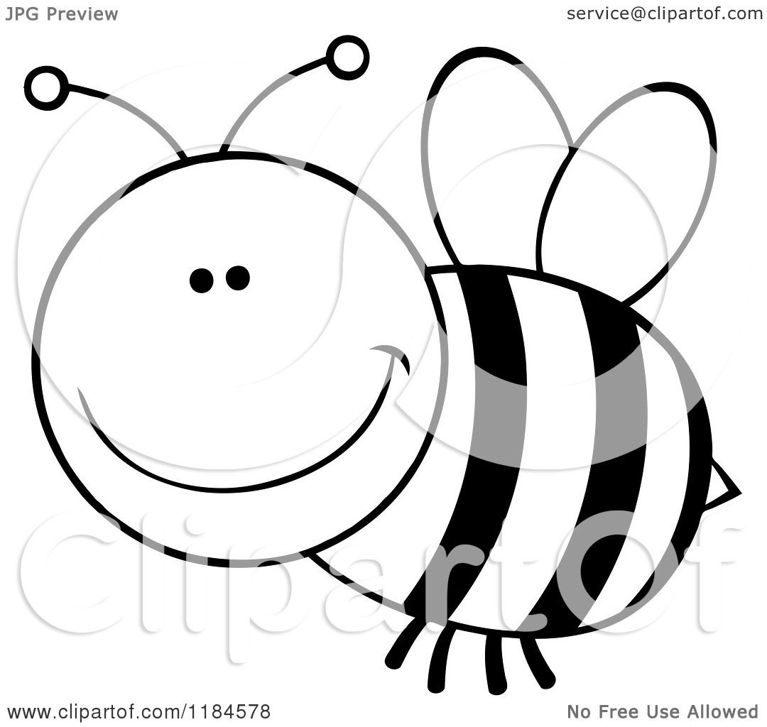 Free Bee Clipart Black And White Black And White Bee Clipart