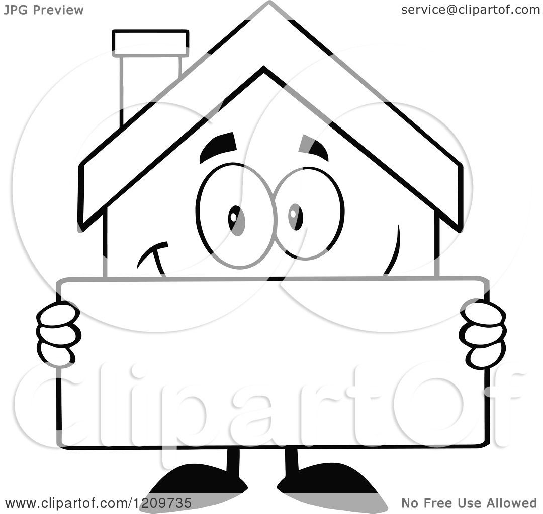 House Cartoon Images Black And White Cartoon of a Black And White