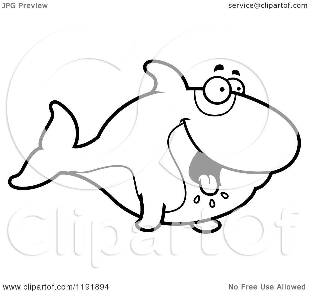Free coloring pages killer whale - Cartoon Of A Black And White Hungry Orca Killer Whale Royalty Free Vector Clipart By Cory Thoman