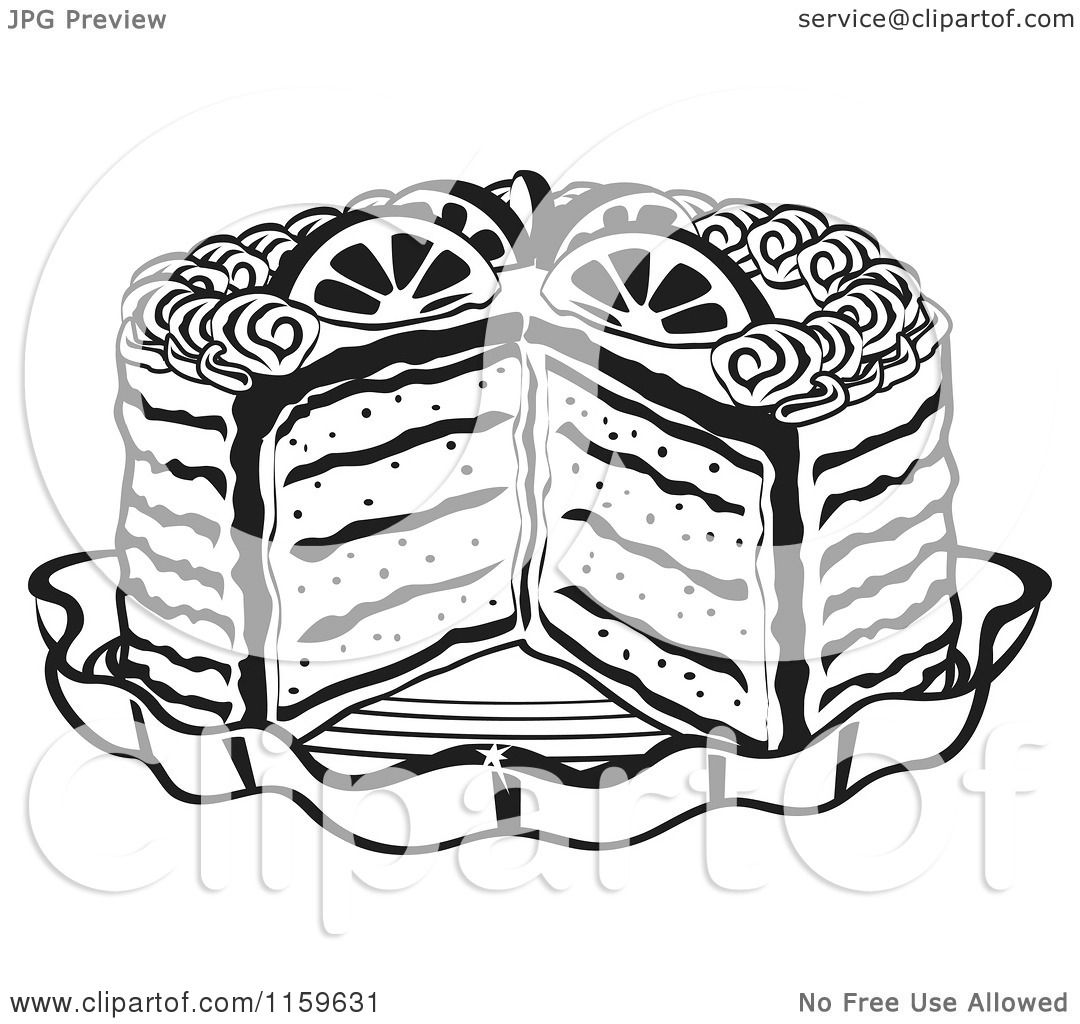 Black And White Cake Clipart | Free download on ClipArtMag  |Cake Slice Clipart Black And White