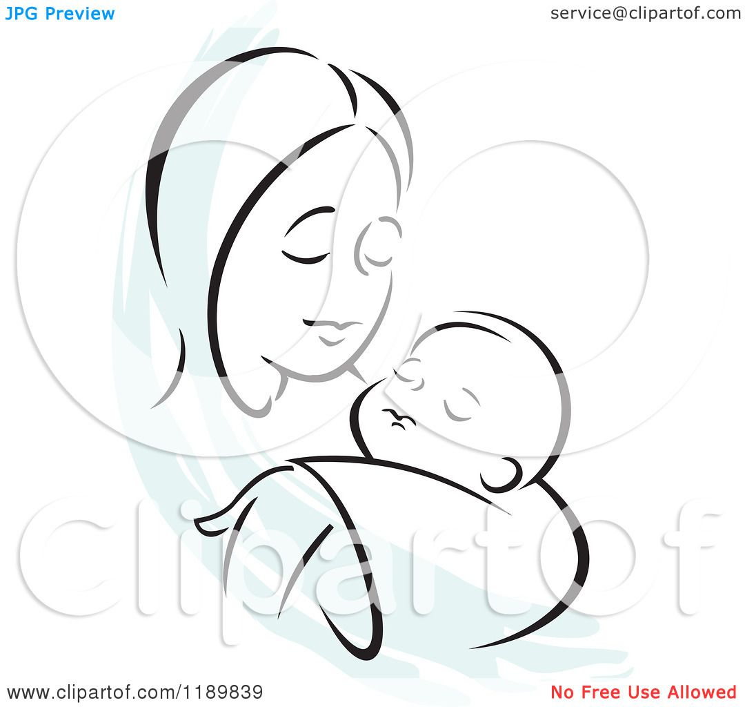 Baby Cartoon Pictures Black And White Cartoon of a Black And White