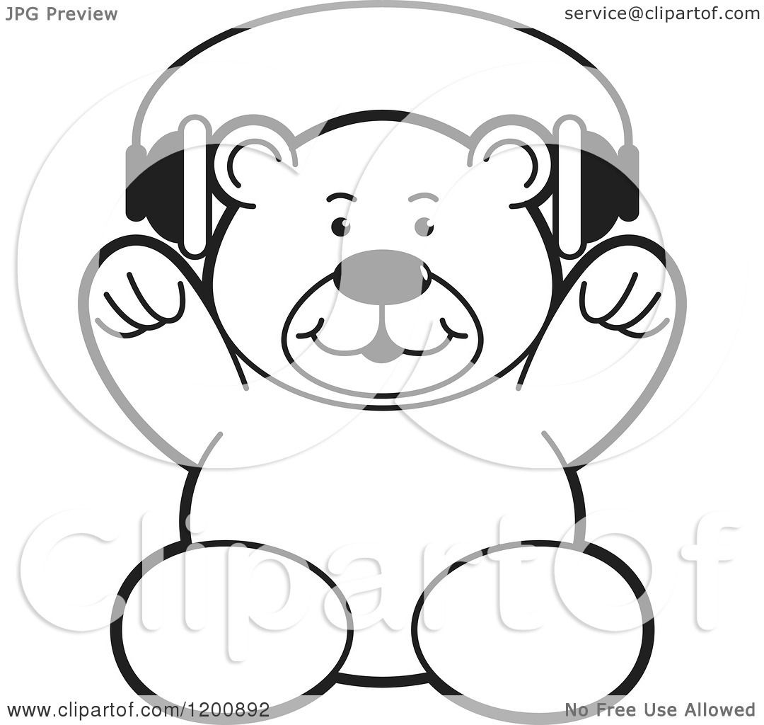 Cartoon of a Black and White Teddy