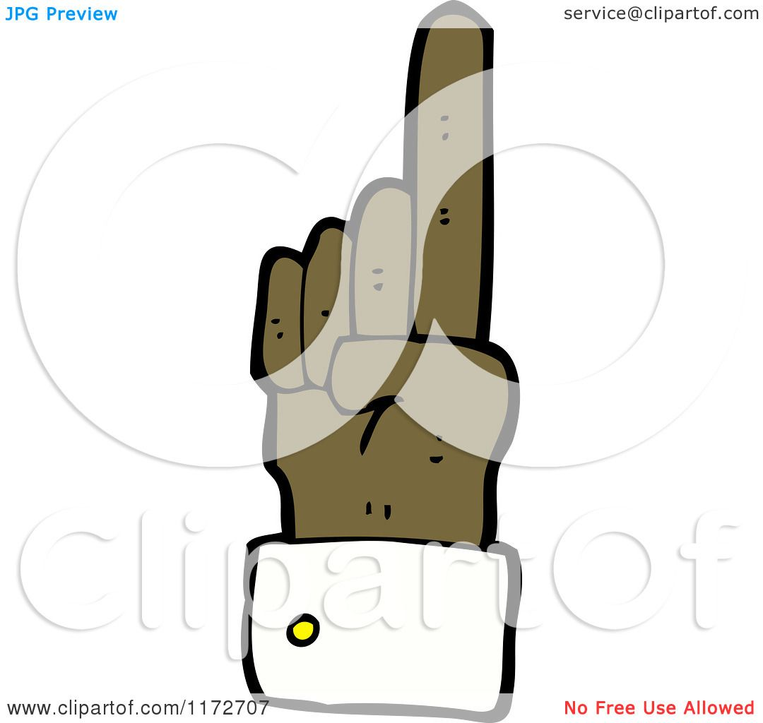 Cartoon of a Black Hand Pointing up - Royalty Free Vector Clipart by    Cartoon Hand Pointing Up