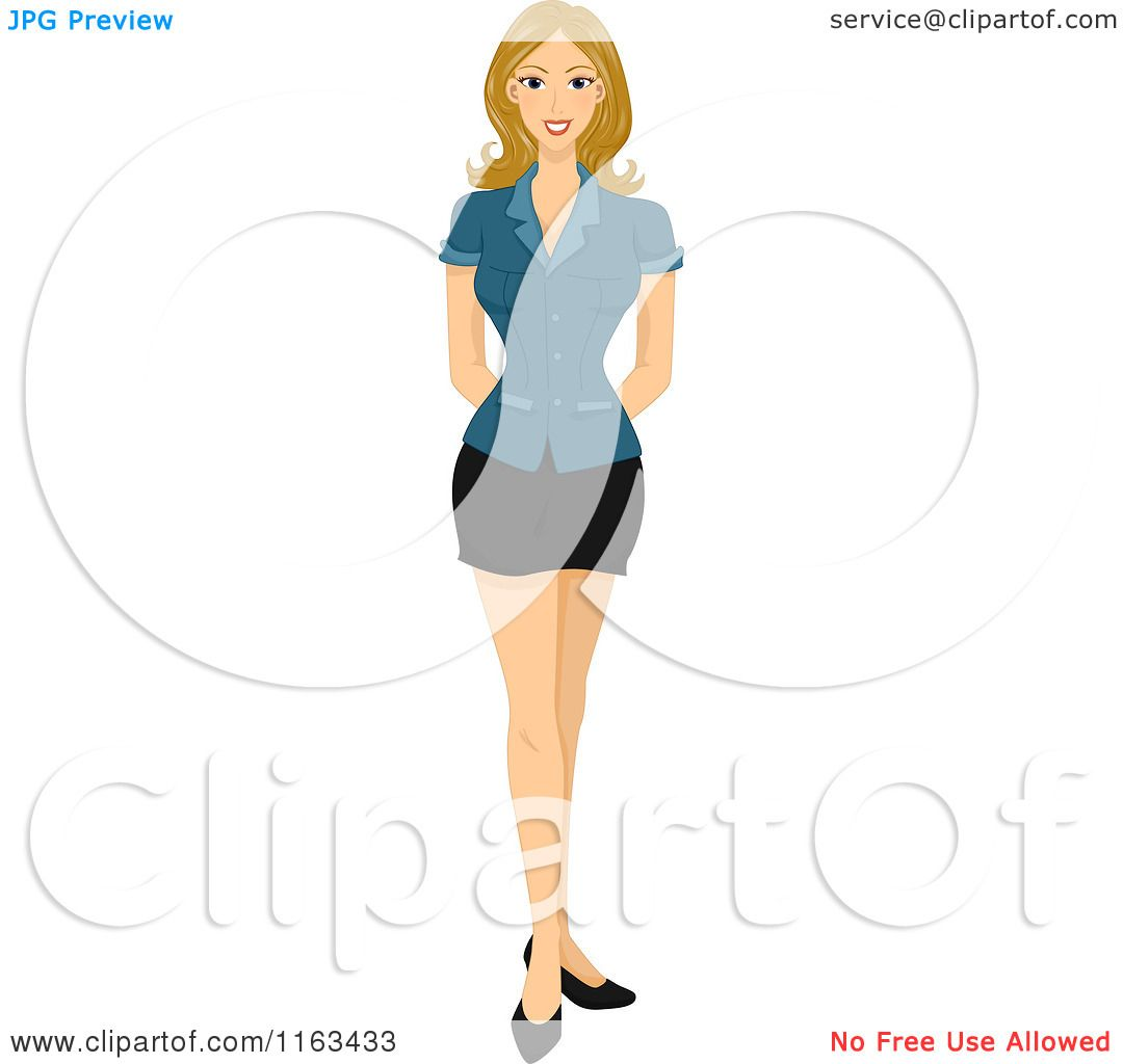 Cartoon of a Blond Woman Standing - Royalty Free Vector ...