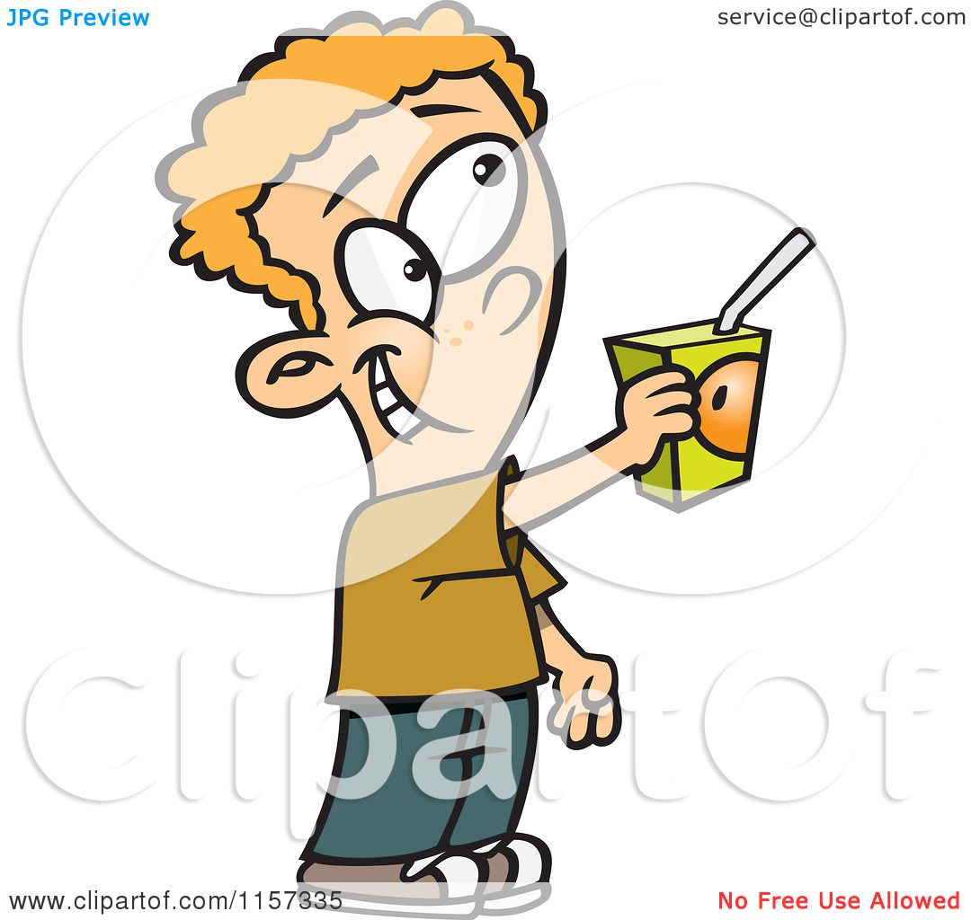 Juice Box Cartoon a Juice Box Royalty Free