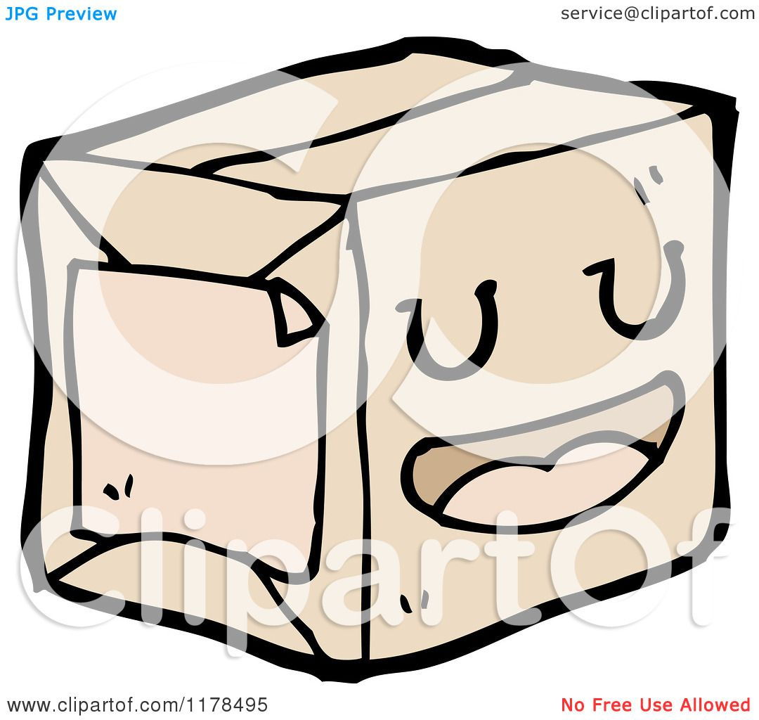 Cartoon Of A Brown Wrapped Package Royalty Free Vector