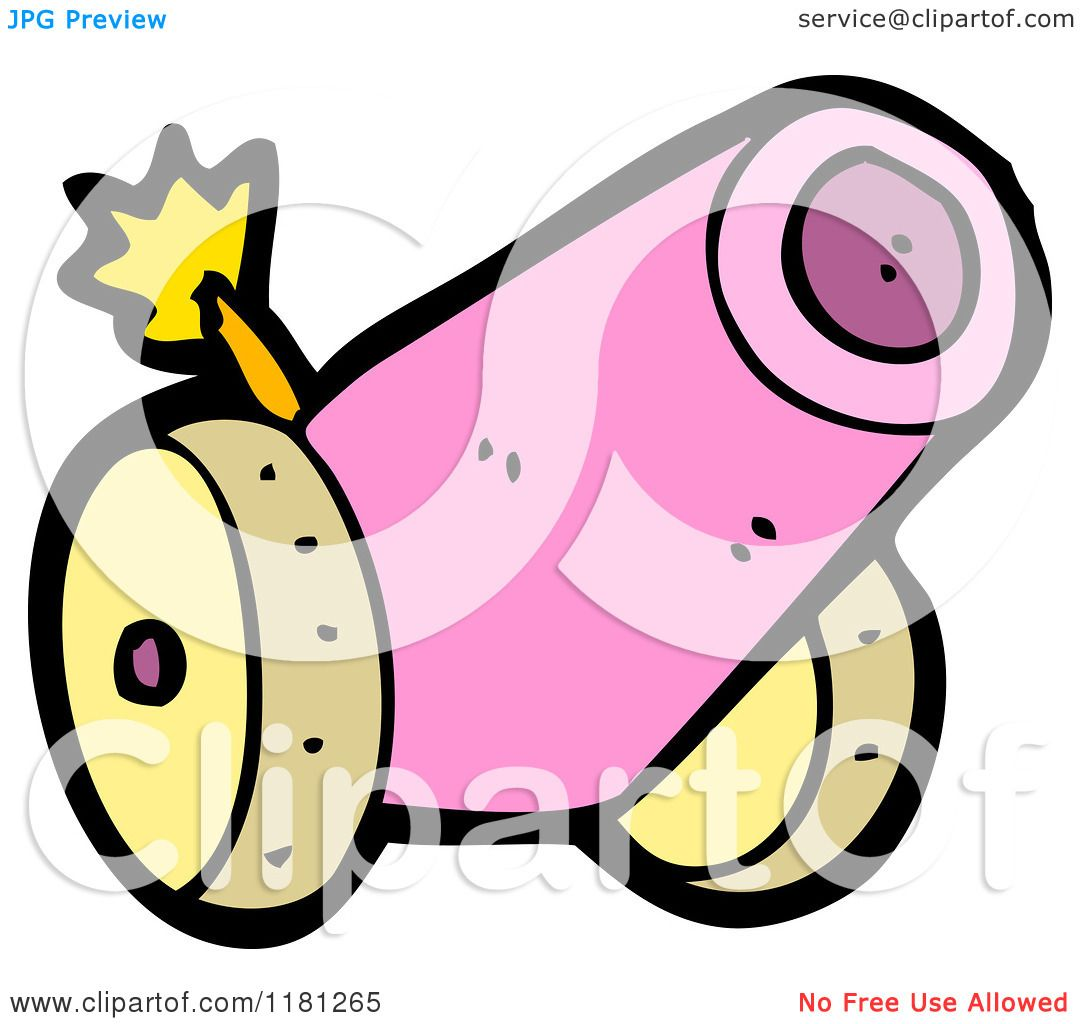 Cartoon Of A Cannon Royalty Free Vector Illustration By