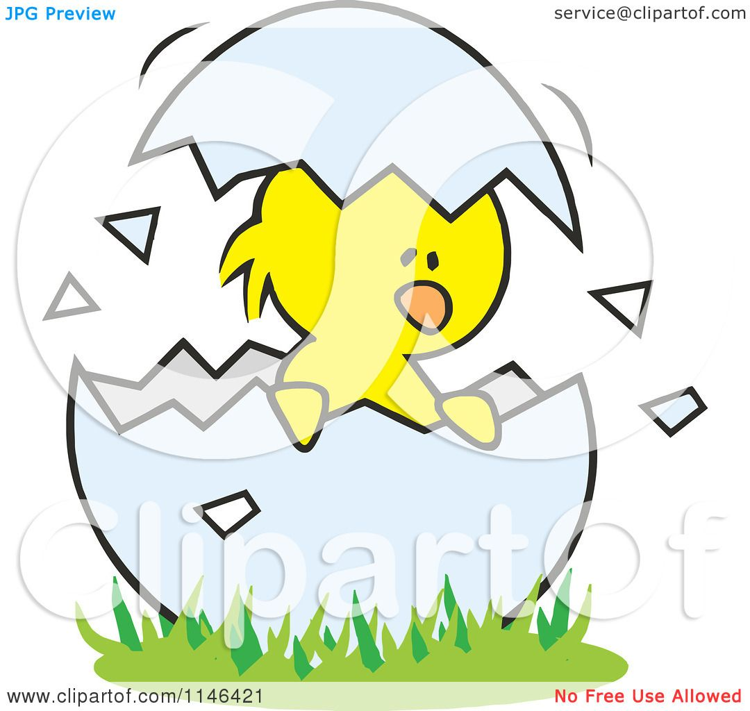 cartoon of a chick in a cracked egg royalty free vector clipart by rh clipartof com cracked egg clip art free cracked egg pictures clip art