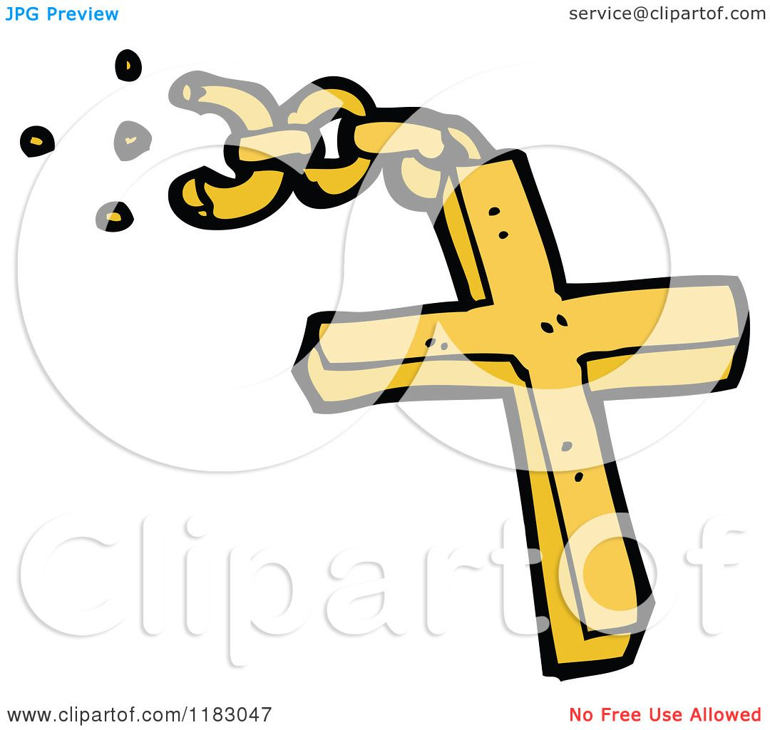 Cartoon of a Christian Cross
