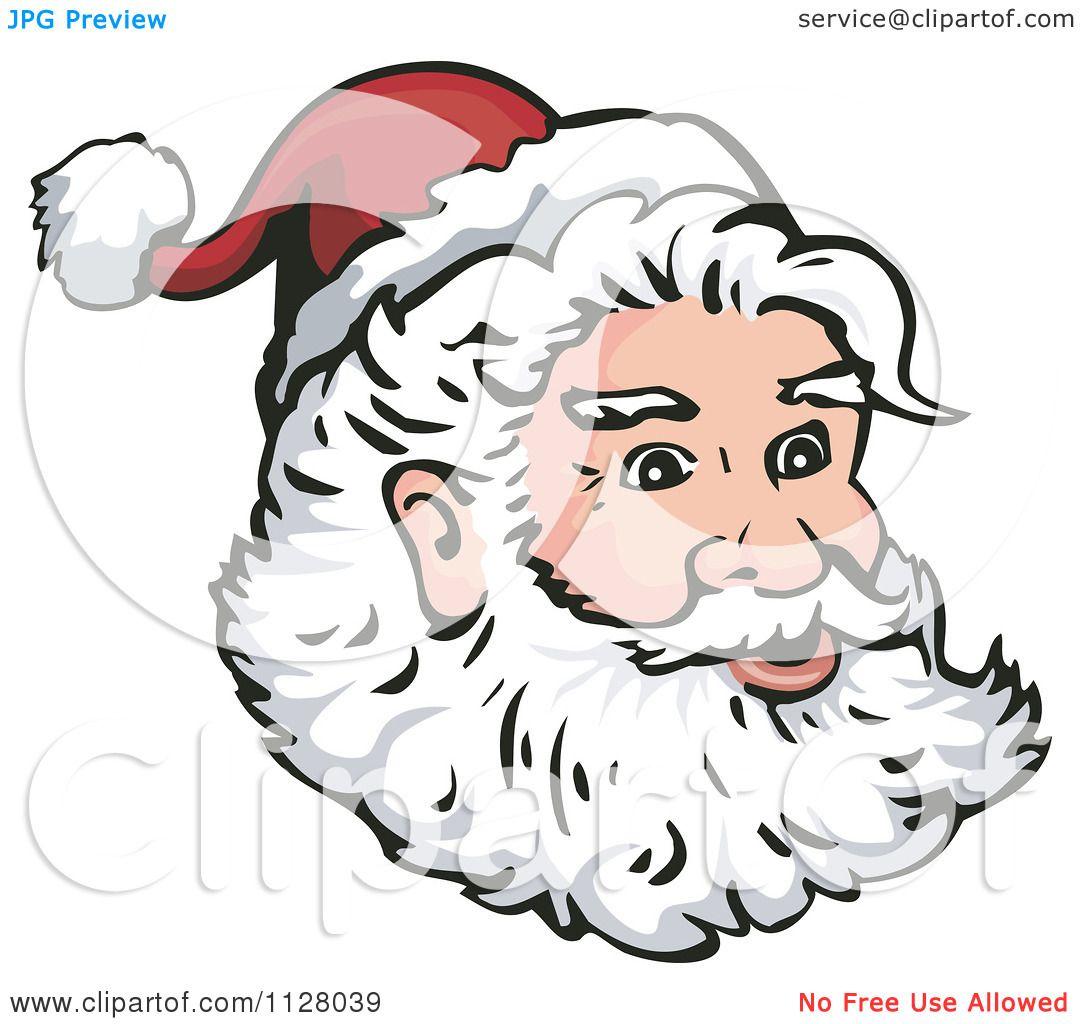 Santa claus beard drawing