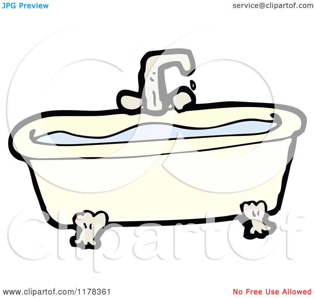 Cartoon of a Claw Foot Bathtub - Royalty Free Vector ...