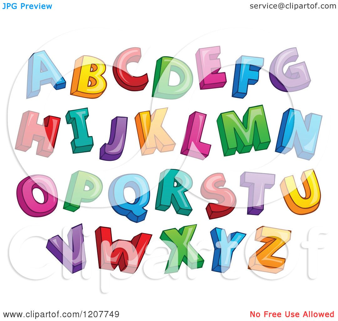 Cartoon of a Colorful Alphabet Letters - Royalty Free Vector ...