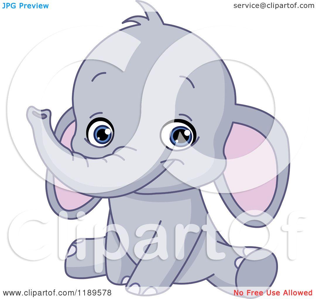 Cute baby elephant cartoon - photo#19