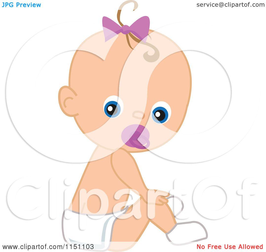 Cute Baby Girl Clipart