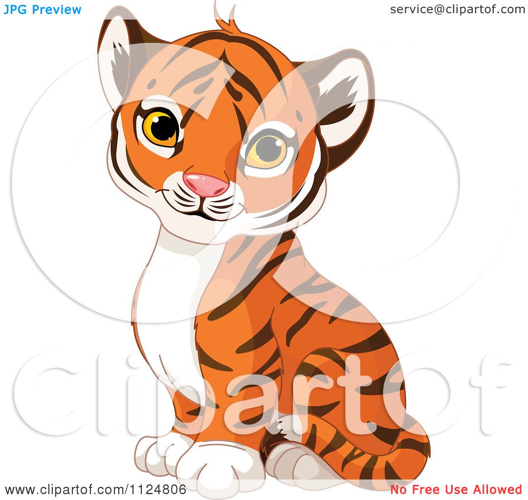 Coloring pages of tiger cubs