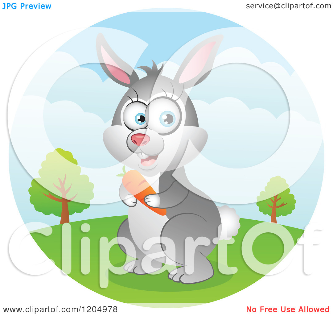 Cute Cartoon Rabbit With Big Eyes