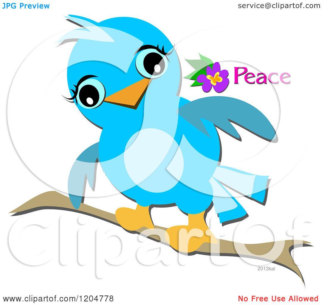 Cartoons Birds Pictures Cartoon of a Cute Blue Bird on