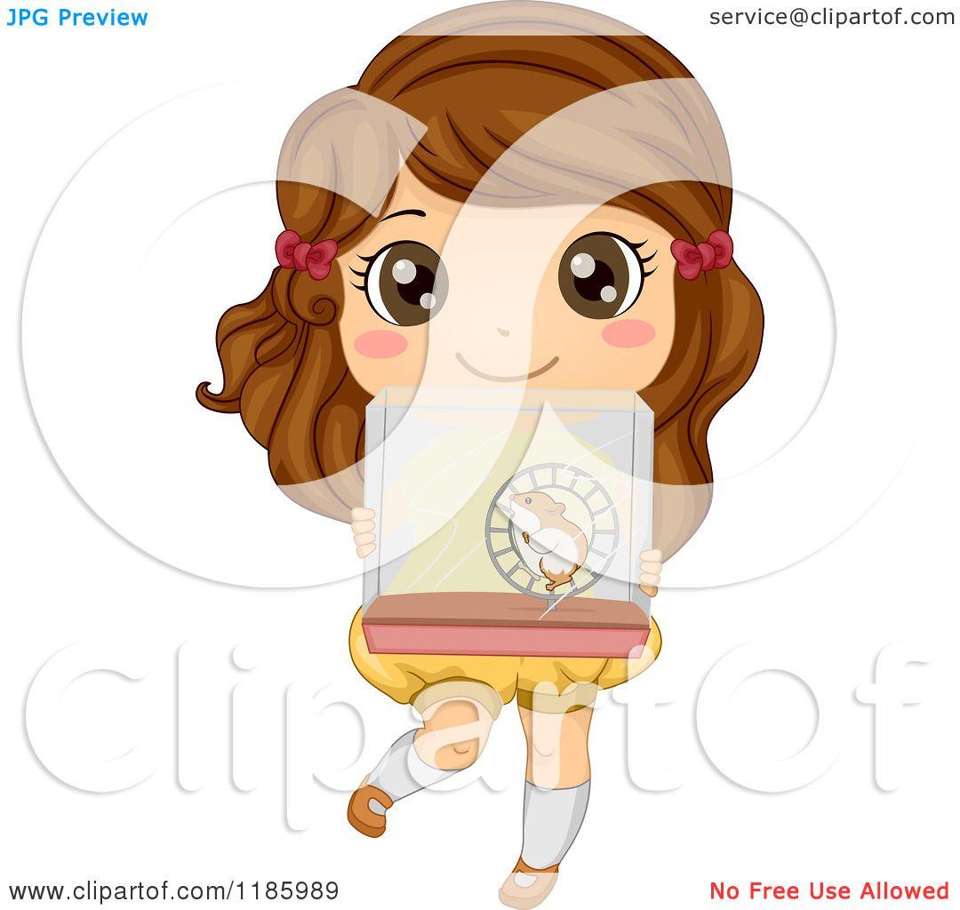 Cartoon of a Cute Brute Girl