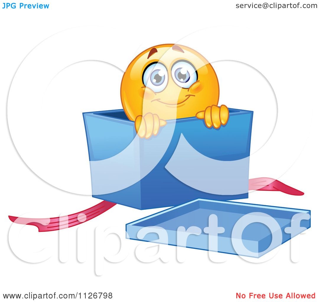 http://images.clipartof.com/Cartoon-Of-A-Cute-Emoticon-Smiley-In-A-Gift-Box-Royalty-Free-Vector-Clipart-10241126798.jpg