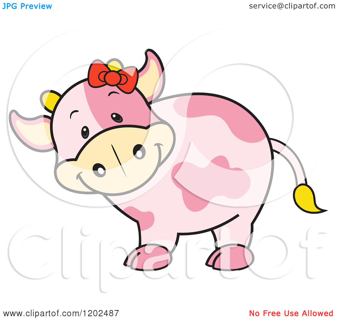 cute cow cartoon â u20ac u201d vector