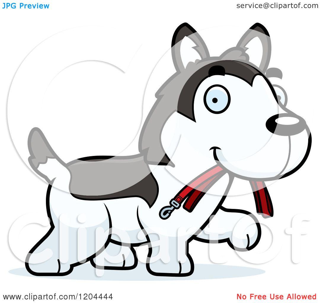 Cute Husky Puppy Cartoon Cartoon of a Cute Husky Puppy