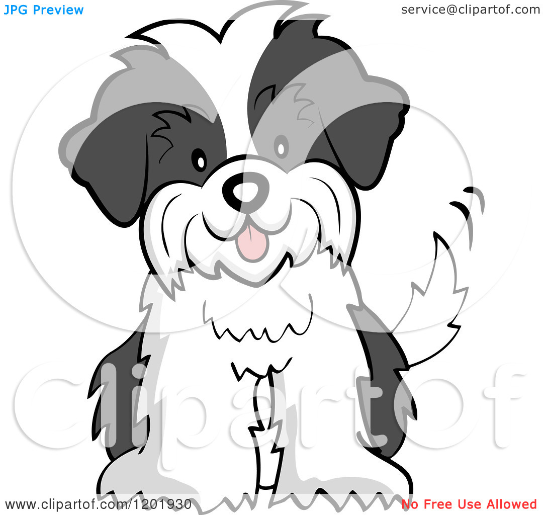 shih tzu cartoon clip art easter dog coloring pages