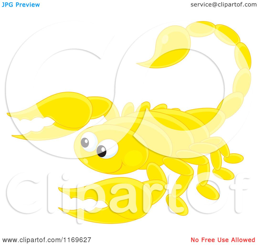 Cartoon of a Cute Yellow Scorpion - Royalty Free Vector ...