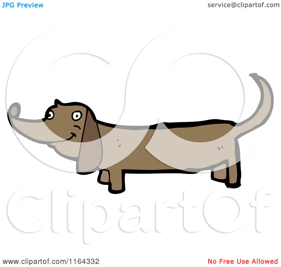 Cartoon of a Dachshund Dog - Royalty Free Vector Illustration by