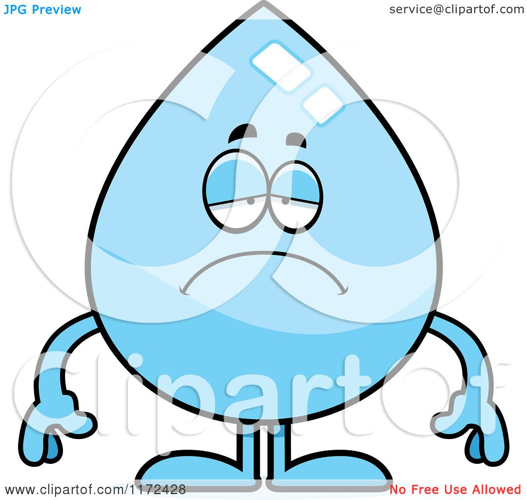Depression Clipart Cartoon of a Depressed Water