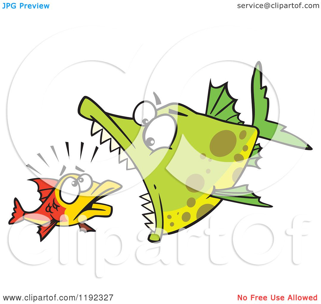 Clipart of a Cartoon Outline Uncomfortable Fish out of Water ...