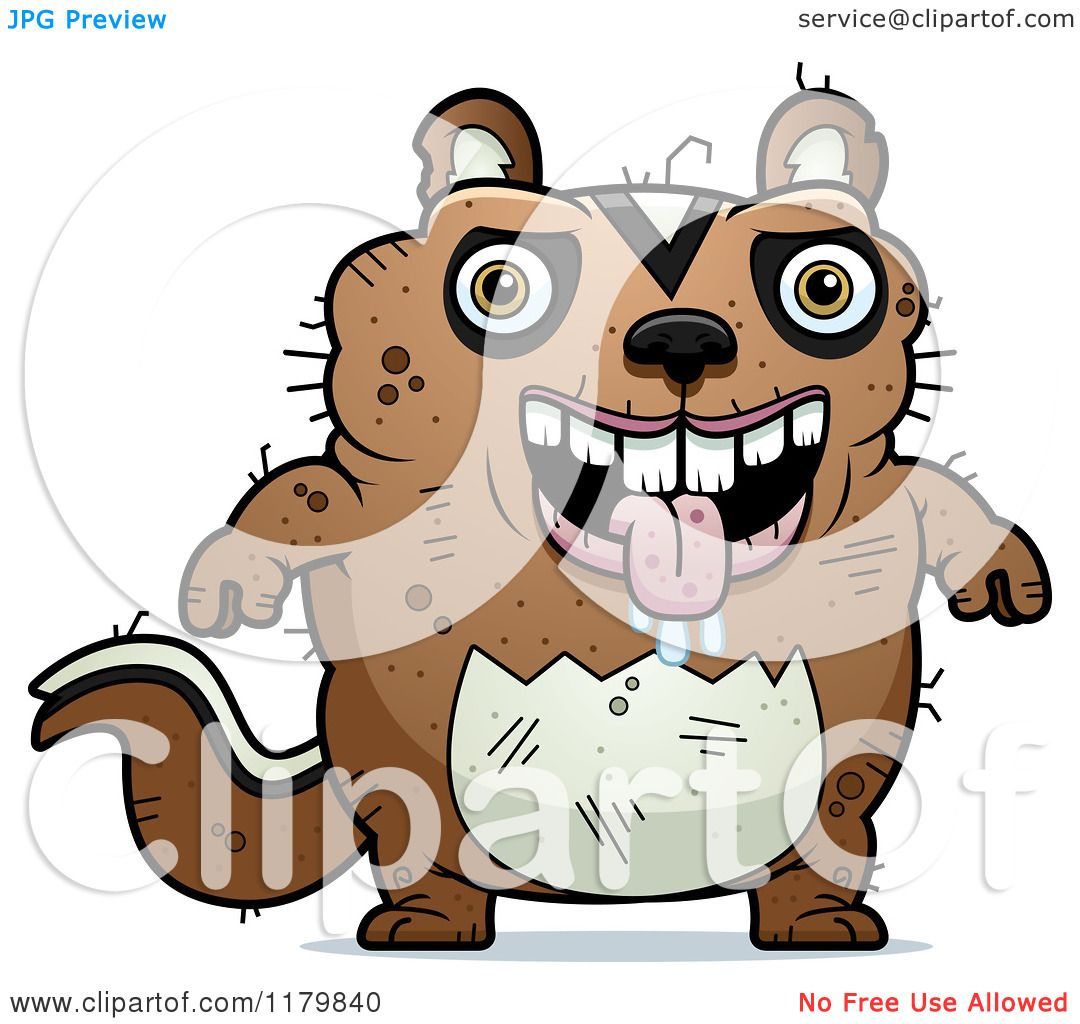 Cartoon of a Drooling Ugly Chipmunk - Royalty Free Vector Clipart ...
