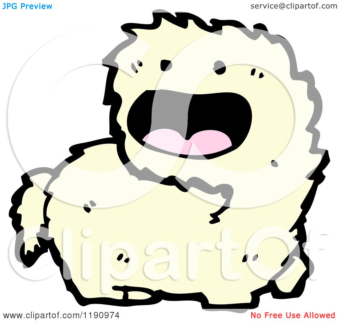 Cartoon of a Furry Animal Creature - Royalty Free Vector ...