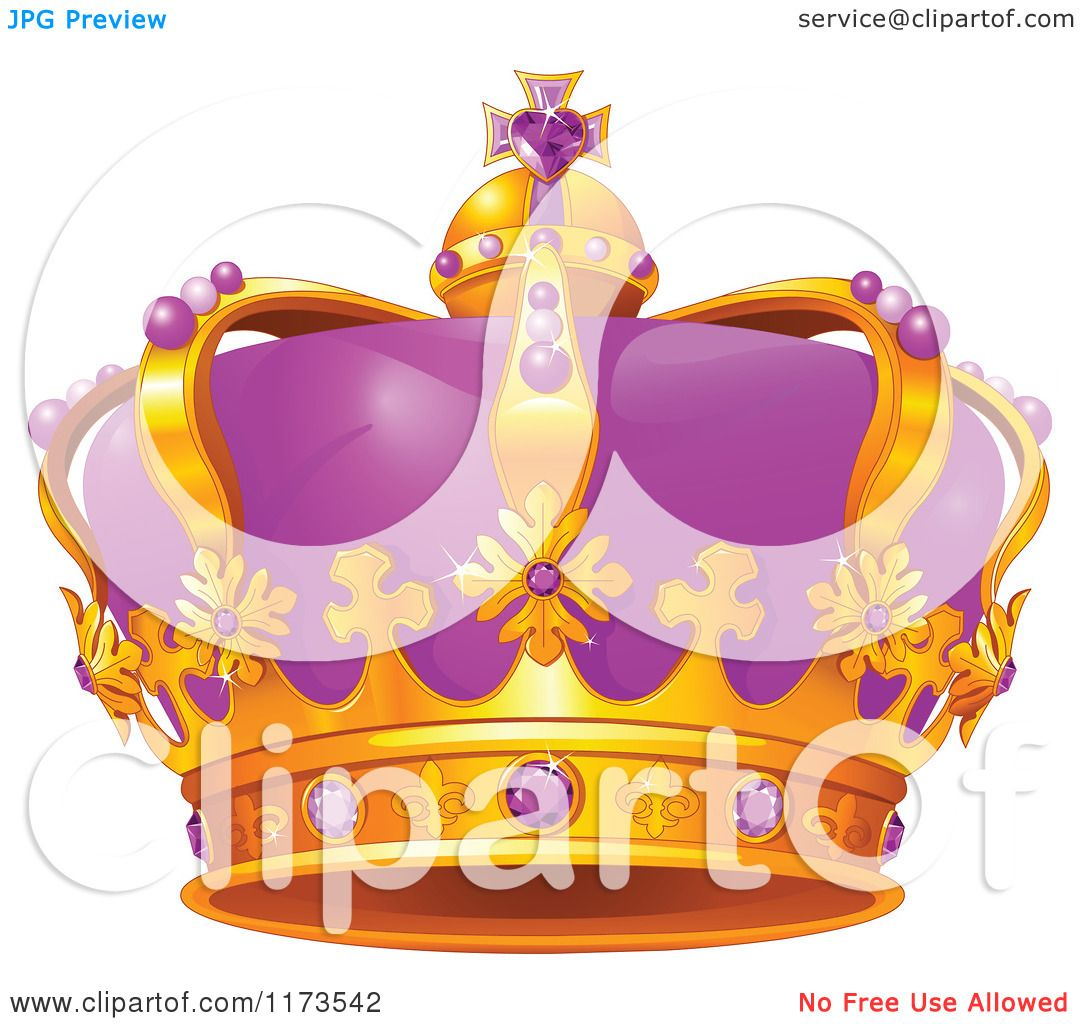 Cartoon Queen Crowns Cartoon of a gold and purple