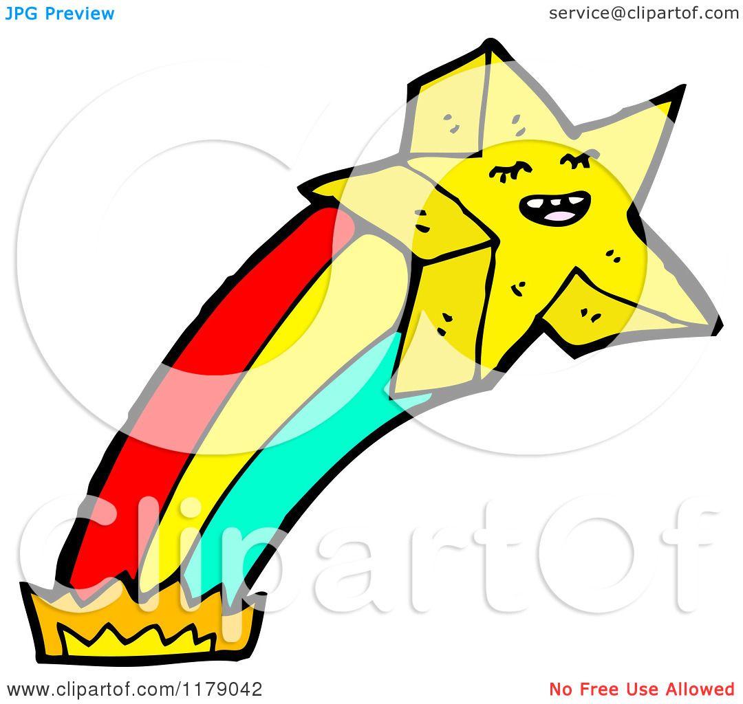 cartoon of a gold star with a rainbow royalty free vector rh clipartof com Gold Star Border Clip Art Gold Star Clip Art Printable
