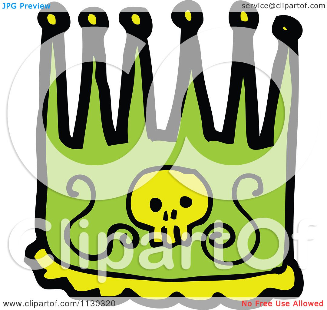 Cartoon Of A Green Skull Crown Royalty Free Vector Clipart By Lineartestpilot 1130320 Check out the latest additions. clipart of