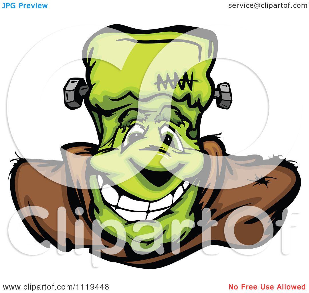 Frankenstein Face Clipart