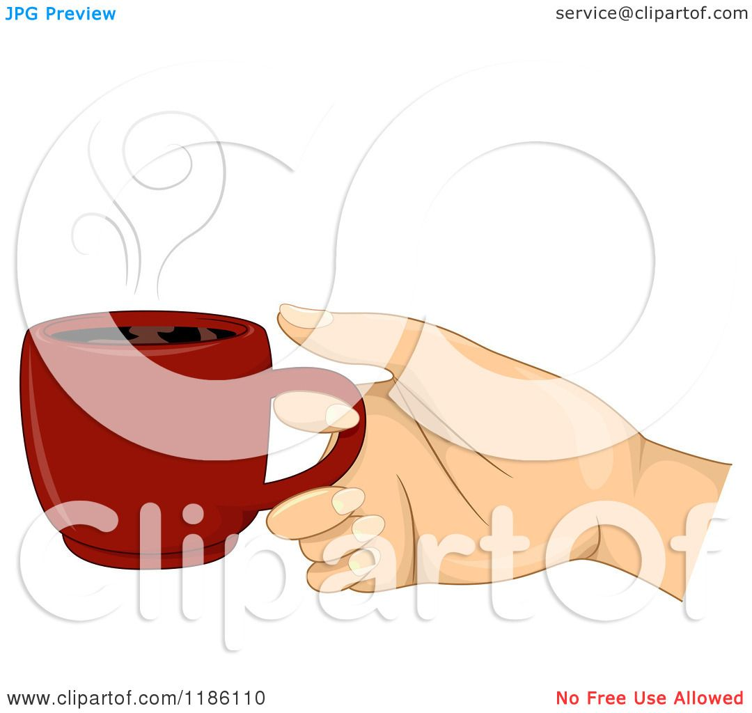 how to draw a hand holding a cup