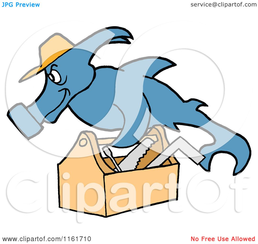 Avatar Hammerhead: Cartoon Of A Handy Hammerhead Shark Repair Man With A Tool