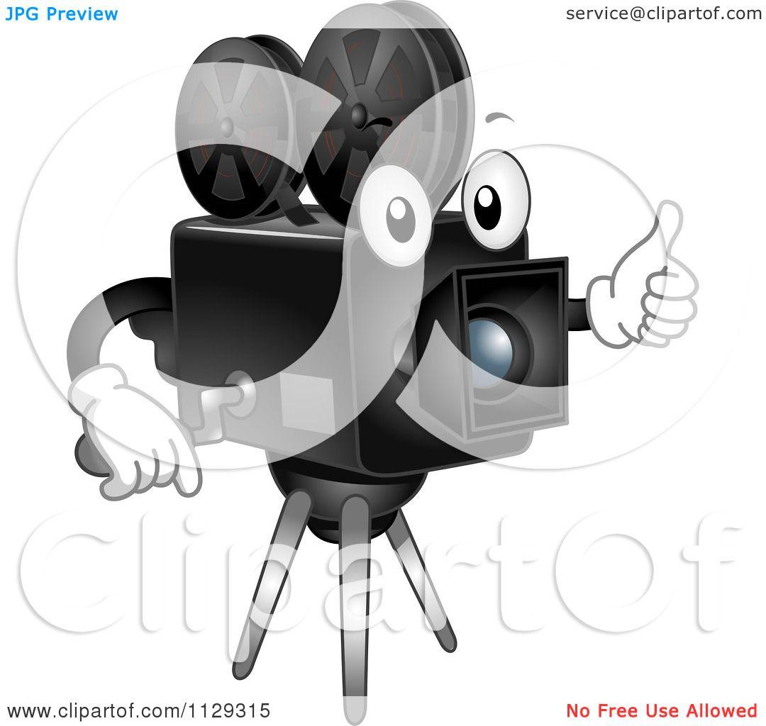 cartoon of a happy analog movie camera mascot holding a thumb up royalty free vector clipart by bnp design studio 1129315 analog movie camera mascot holding